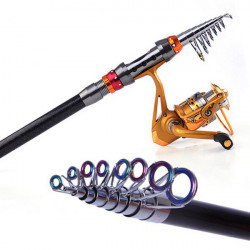 Teleskop Angelrute Carbon Spinning Sea Fishing Pole