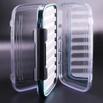 Vandtæt Transparent Fly Fiskeri Box Dobbeltklik Layer Slit Foam Fiskeri