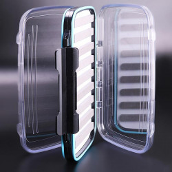 Waterproof Transparent Fly Fishing Box Double-Layer Slit Foam
