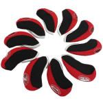 10 PCS Sports Golf Wedge Iron Head Covers Protective Covers