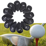 12PCS PU Leather Golf Iron Club Putter Headcovers Protective Covers Fitness & Body Building