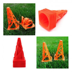 "10  pcs 9"" inch Soccer Football Trainning Cones Fitness Agility Field"
