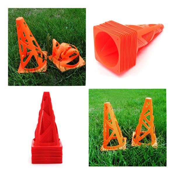 "12 pcs 9"" inch Soccer Football Trainning Cones Fitness Agility Field Fitness & Body Building"
