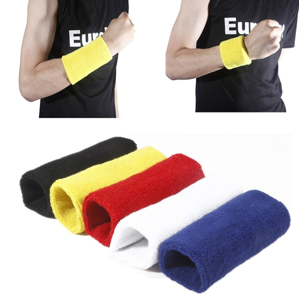 13.5*7cm Sports Fitness Wrist Sweatband Hand Wrap Wristband Fitness & Body Building