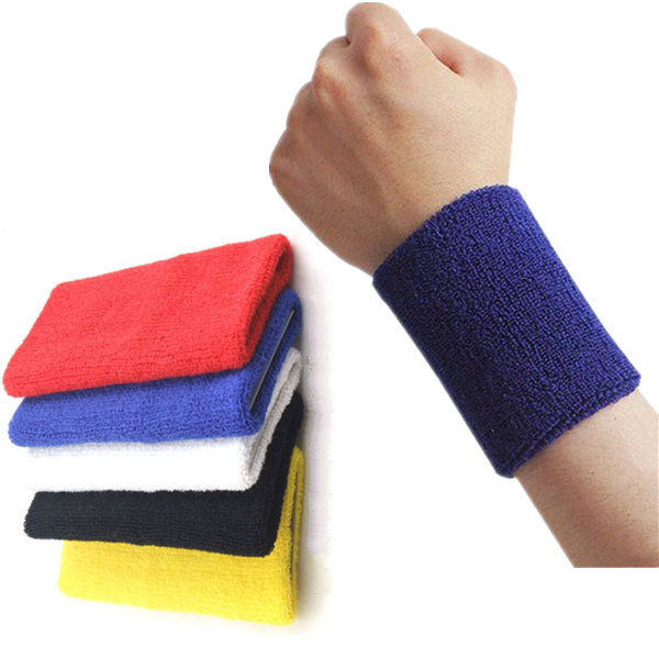 15*10cm Sports Fitness Wrist Sweatband Hand Wrap Wristband Fitness & Body Building