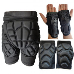 2.9cm Thick  Ski Skiing Hip Knee Pad  Wrist Support Palm Protector