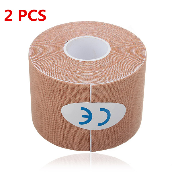 2PCS Apricot Sports Kinesiology Tape Muscles Care Therapeutic Bandage Fitness & Body Building