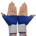 2 PCS Elastic Thumb Wrap Wrist Palm Supports Sport Gloves Fitness & Body Building