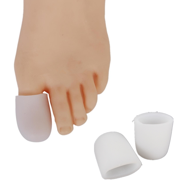 2Pcs Soft Silicone Gel Toe Separators Straightener Bunion Protector Fitness & Body Building