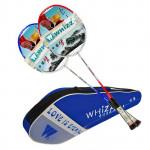 2st Lining Kolfiber Badmintonracketar High-end Racquet med Väska Fitness & Träningsutrustning