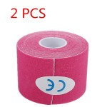 2pcs Pink Sports Kinesiology Tape Muscles Care Therapeutic Bandage Fitness & Body Building