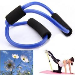 3X Yoga Widerstand Bänder Schlauch Eignung Muskel Trainings Übungs Schläuche 8 Typ Blau