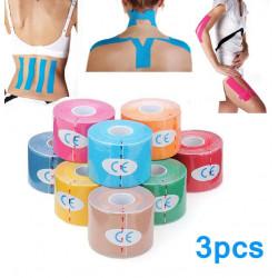 3st Grön Kinesiology Tejp Sport Muskler Care Terapeutisk Bandage