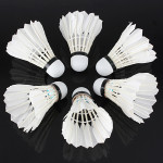 6 x White Goose Feather Badminton Ball Game Sport Training Fitness & Body Building
