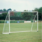 8x4ft Soccer Goal Post Nets 2.4x1.2m for Poly/Samba Junior Sport Match Fitness & Body Building