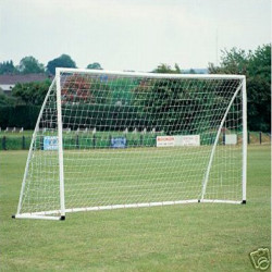 8x4ft Soccer Goal Post Nets 2.4x1.2m for Poly/Samba Junior Sport Match