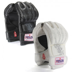 Boxing Fighting Grappling Half Finger Punch Leather Mitts Gloves