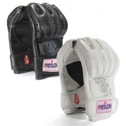 Boxning Slåss Grappling Halvfinger Punch Läder Karda Handskar