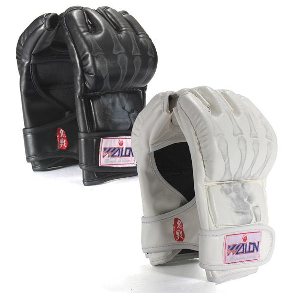 Boxen Kämpfen Grappling Half Finger Leder Punch Mitts Handschuhe Fitness &  Sportgeräte