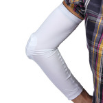 Combat HEX padded Arm Sleeve Elbow Pad Guard protector Brace Fitness & Body Building