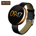 DM360 Round Metal Dial Displays Bluetooth 4.0 Sport Smart Watch For IOS And Android System Fitness & Body Building