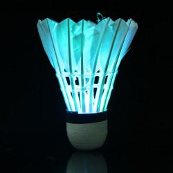 Dark Nat Farverige LED Belysning Sport Fjer Birdies Badminton