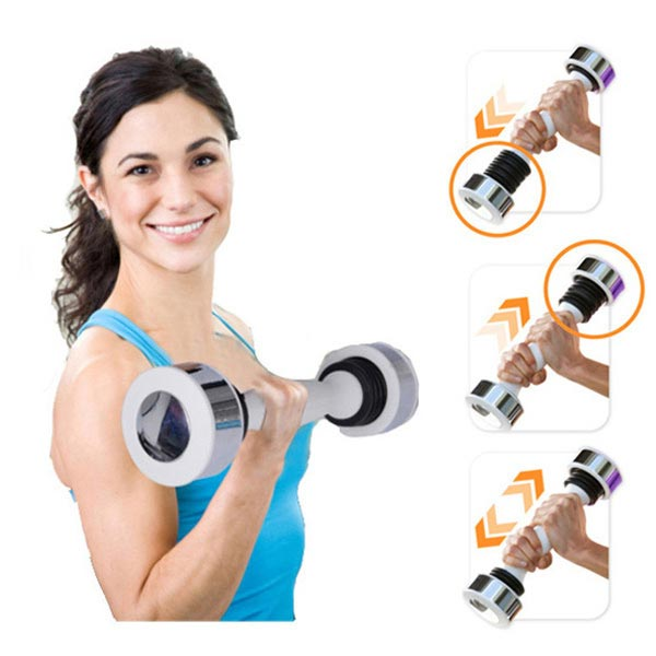Dumbbell Shake Tone Weight Calories Fitness Body Exercise Arm Chest Fitness & Body Building