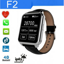 F2 Bluetooth Smart Watch IP67 Waterproof IPS Screen For IOS And Android