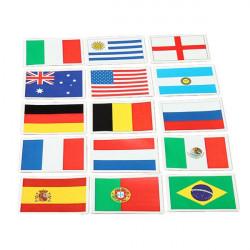 FIFA Brazil World Cup Football Flag Sticker Fans Supplies