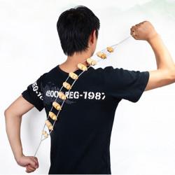 Fitness Wooden Roller Body Neck Back Leg Waist Self Massager