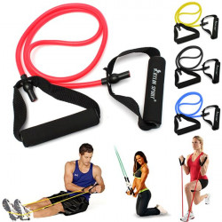 Fitness Workout Exercise Elastic Resistance Band Pull Rope Yoga Pilates Strength