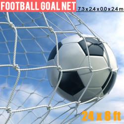 International Standard 24x 8ft 7.3x2.4m Soccer Football Goal Post Net