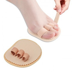 Left Right Foot Triple Toes Separators Straightener Bunion Protector