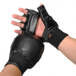 MMA Ultimate Fight Punching Half Mitts Boxing Gloves Fitness