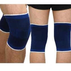 Mænd Sport Beskyttelse Knæ Guard Gym Kneelet Sleeves Blå