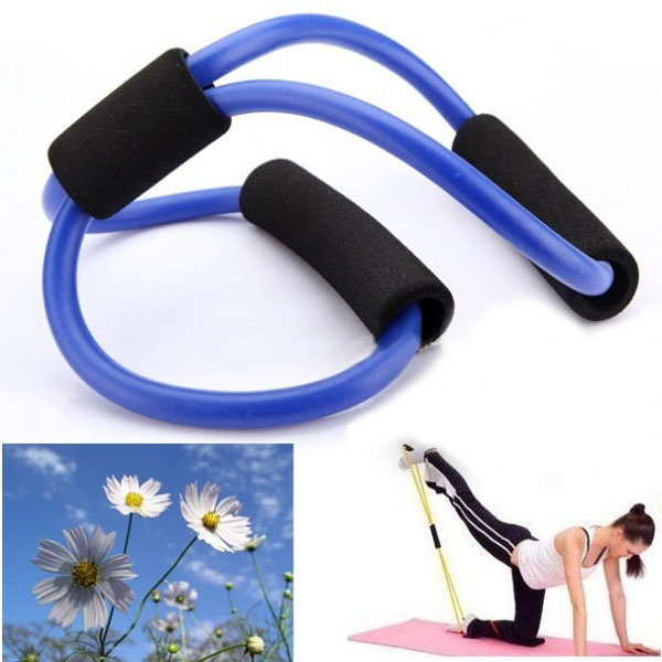 Resistance Bands Tube Fitness Muscle Workout Exercise Yoga Tubes Fitness & Body Building