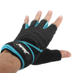 Sports Exercise Gloves Weight Lifting Gym Training Workout Wrist Wrap