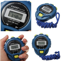 Sports Odometer Electronic Digital Chronograph Time Stopwatch