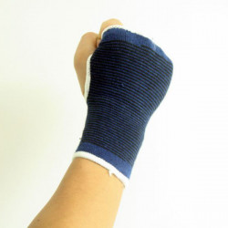 Sport im Freien elastischen Polyesterhandballenauflage Handschutz 1 Paar Blau