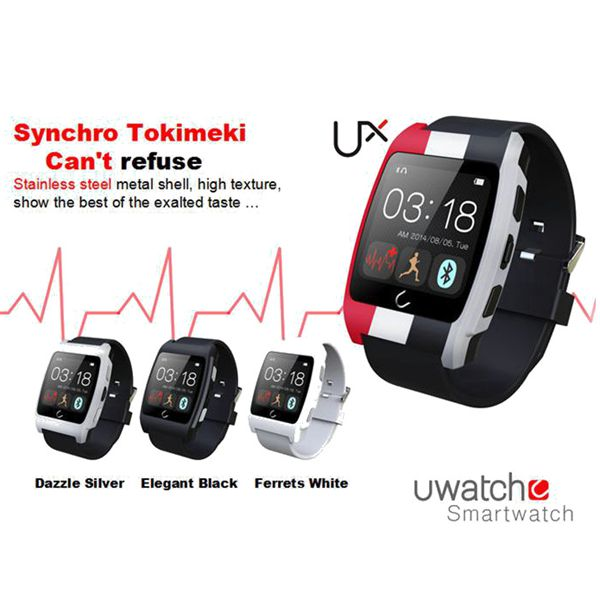 UX Smart Bluetooth Touch Screen Watch Compatible With IOS & Android Fitness & Body Building