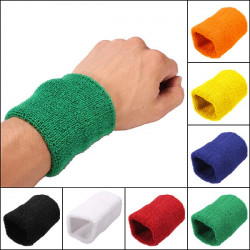 Unisex- Sport Bomull Handled Svettband Hand Wrap Tennisbadminton Band