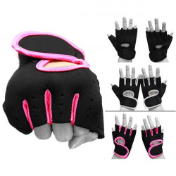 Weight Lifting Padded Leather Gloves Fitness Body Building Cycling
