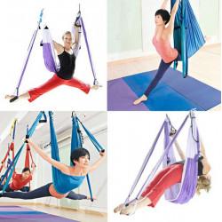 Yoga Swing Sling Trapeze Hängmatta för Gym Yoga Pilates Verktygslager