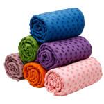 Yoga Handtuch Mat Blanket 183x63cm Silikon Kennzeichen Netztasche Fitness &  Sportgeräte