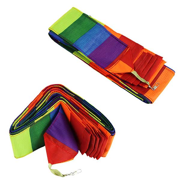 10M Super Nylon Rainbow Kite Tail Line Sports Kite Accessory Outdoor Recreation
