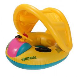 Justerbar Parasoll Babysim Float Seat Boat Uppblåsbara Ringen