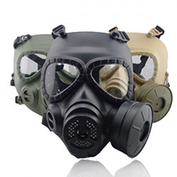 Airsoft Tactical Wargame Dummy Gas Protective Mask Cosplay Builtin Fan