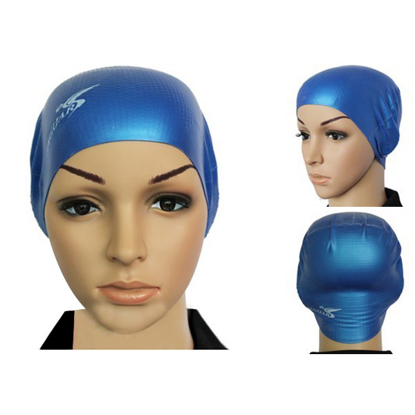 Anti-skid Particles Silica Gel Waterproof Swimming Cap For Adult Water Sports