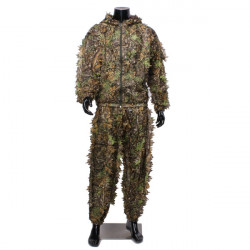 Camouflage Suit Woodland leafy Clothing Outdoor Hunting Shooting