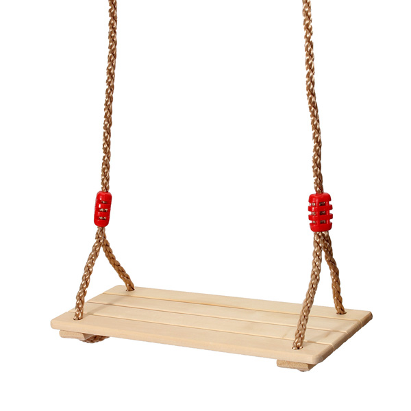Child Adult Wood Swing Stol Indendørs Udendørs Chair Kid Gift Udendørs Leg